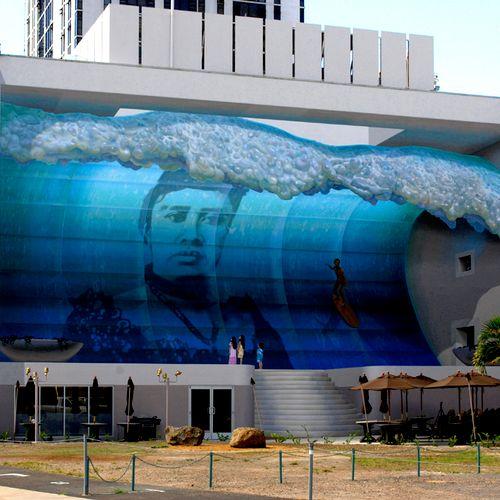 Mana Nalu, completed mural - Honolulu