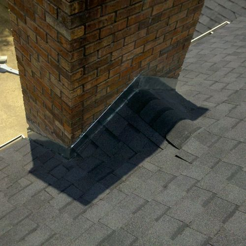 Chimney AFTER Cricket and Flashing Installation