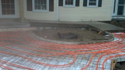 RADIANT HEAT USED FOR SNOW MELT FOR LOCAL BANK. NO MORE SHOVELING OR FALLING ON ICE.