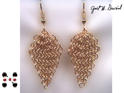 14KT Gold-Filled Micro Maille Earrings