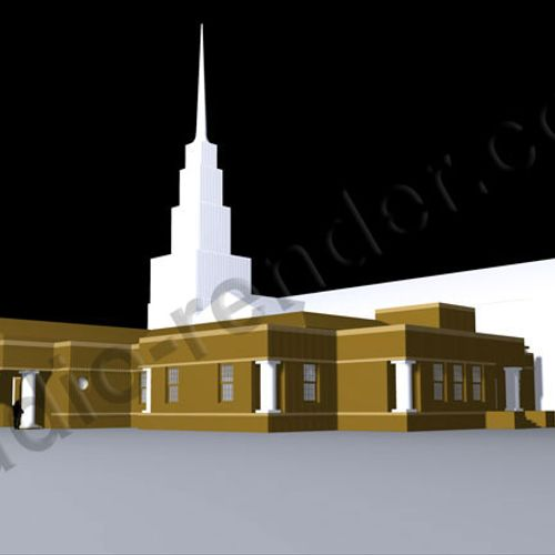 Basic 3D rendering on church addition