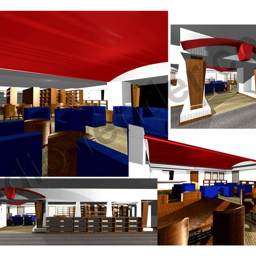 Interior Library Renderings