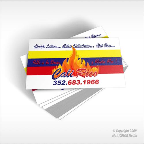 Cali Rico Business Card Design - Copyright MultiCOLOR Media