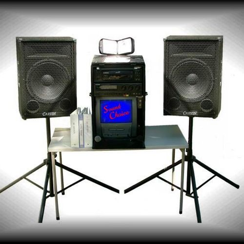 This is my D.I.Y. rental system for $200 for 24 hours.  It's a 1,000 watt sound system with 20,000 karaoke songs, 2 cordless mics, and premixed DJ dance music as well offering you the ability to plug in your own laptop or MP3 player and play your own cds. Go to www.firstclassdj.org to find out more information