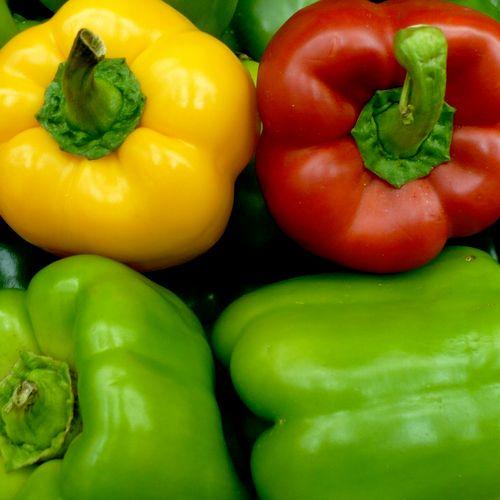 Macro of Peppers