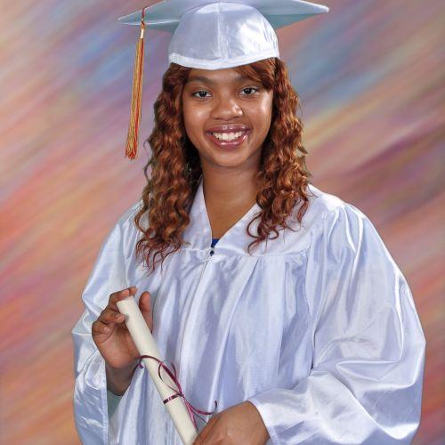 Graduation portrait by AMC school photographers