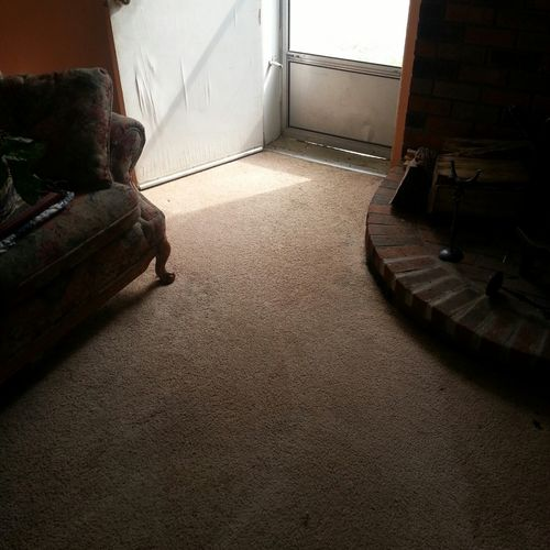 After picture of our low moisture carpet cleaning