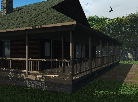 Log Cabin Rendering