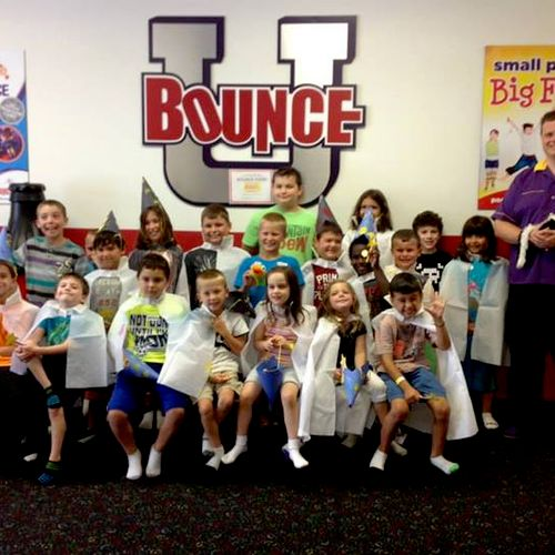 Fun with the Bounce U day campers!