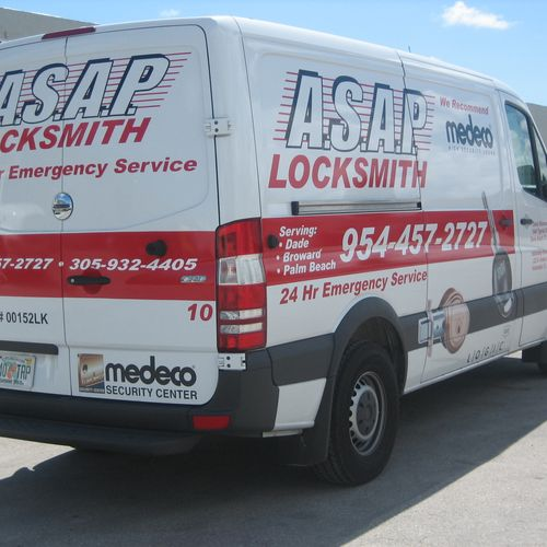 ASAP Locksmith Service Vehicle.