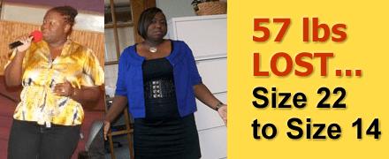 Venetta P. of Poughkeepsie, NY lost 57 pounds!