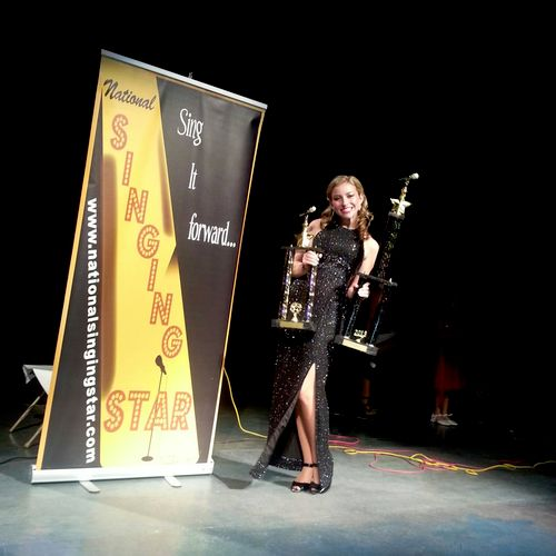 Kalie wins First Place in Cincinnati's National Singing Star Competition, 2013! One of our Fine Vocalists...