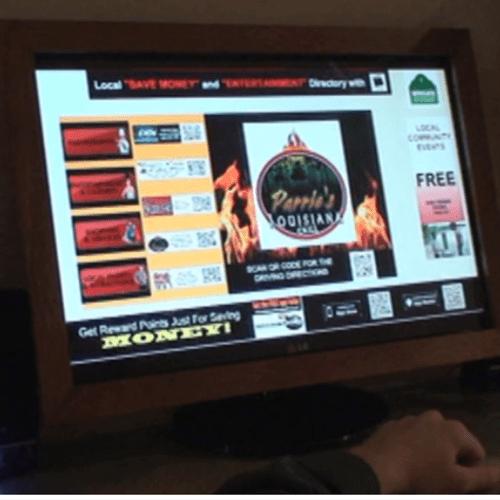 Hotel Lobby Kiosk with Video