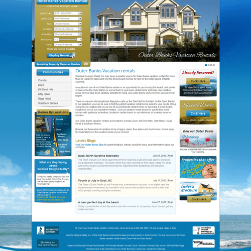 Vacation Rental Web Development.