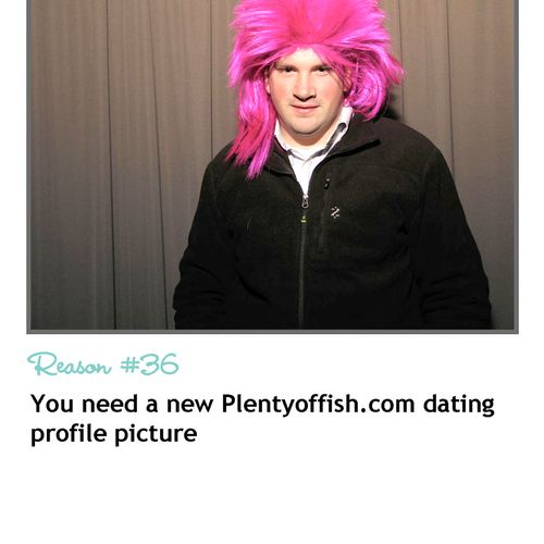 Photo booth rental REASON #36 - You need a new Plentyoffish.com dating profile picture