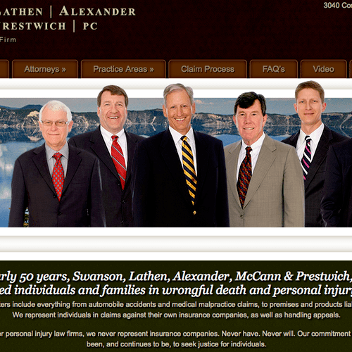 We are proud to be the marketing provides for SLAM Law out of Salem, OR