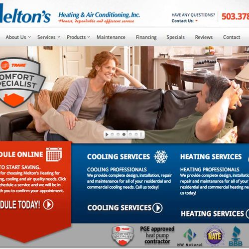 A trusted provider of online marketing for Salem Oregon's,  Melton's Heating