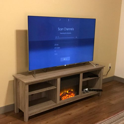 Assembled TV stand in Jacksonville