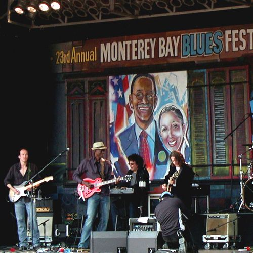 Onstage with The Keb Mo Band, Robben Ford sitting in, Monterey Blues Festival 2008