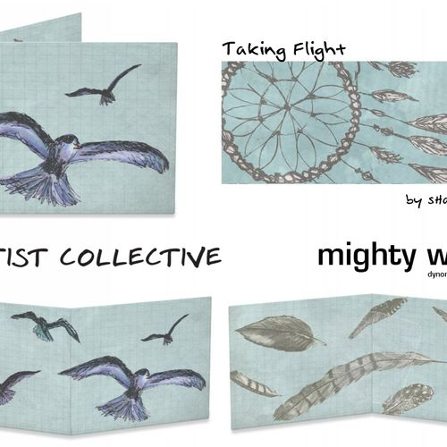 Taking Flight. Dynomighty Artist Collective Wallet design.