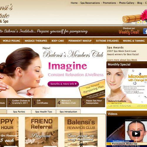 Balensi Spa - Website (www.balensispa.com)