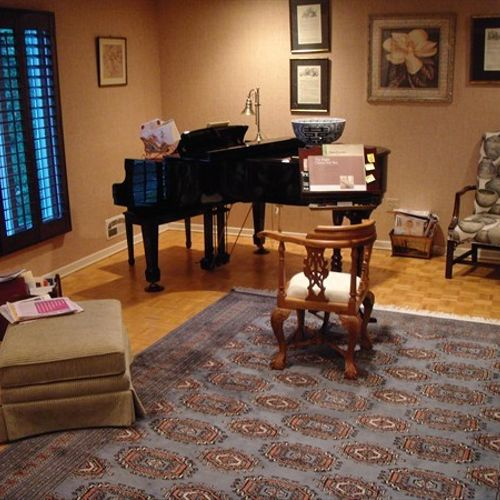 Piano Room Hardwood - Before