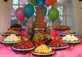 Chocolate fountain delight
