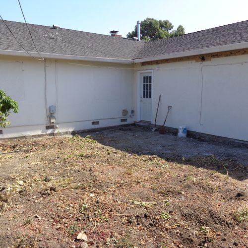 Yin (before) backyard