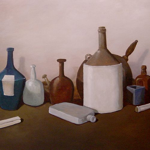 Large still life painting.  Private commission.