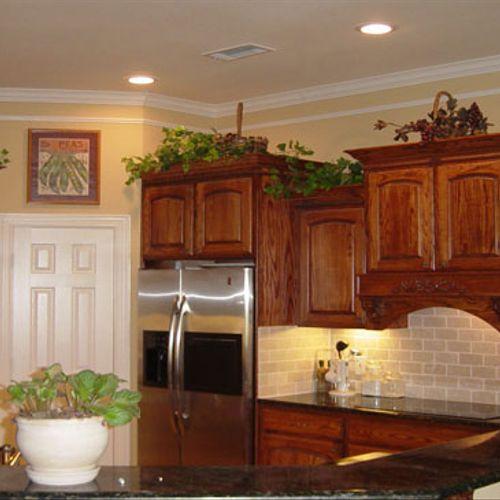 Kitchen of custom home design/build.