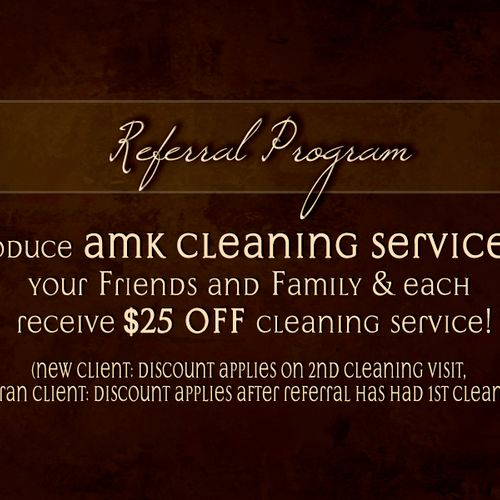 Our referral program...Refer a friend and you both save!