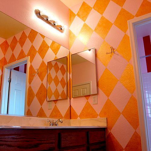Gold Diamond Faux Bathroom