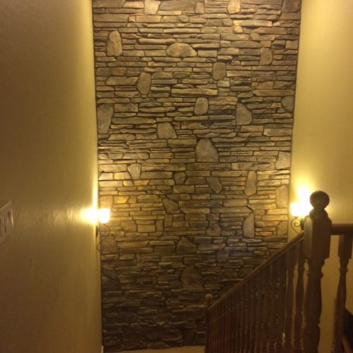 ROCK wall fineshed