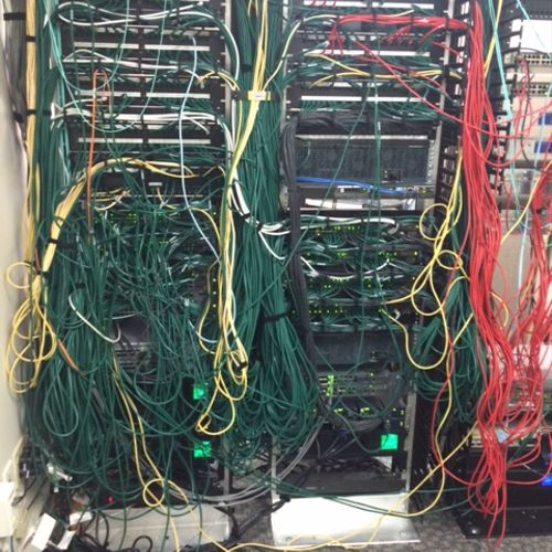 Switch Closet Before rewiring