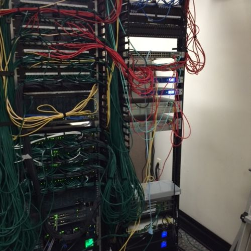 Switch Closet After rewiring