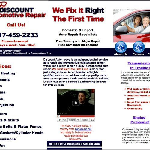 http://www.discountautomotivearlington.com Discount Automotive, one of our clients, has seen tremendous growth in 2011 by using Jordan Web Marketing to manage their online marketing.