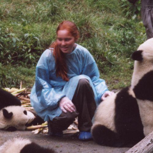 Nora at the Panda Reserve, China