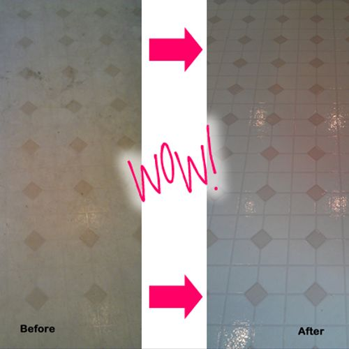 We can bring dull, dirty linoleum back to life!