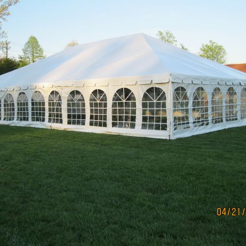 40x60 Tent With Window Sidewalls