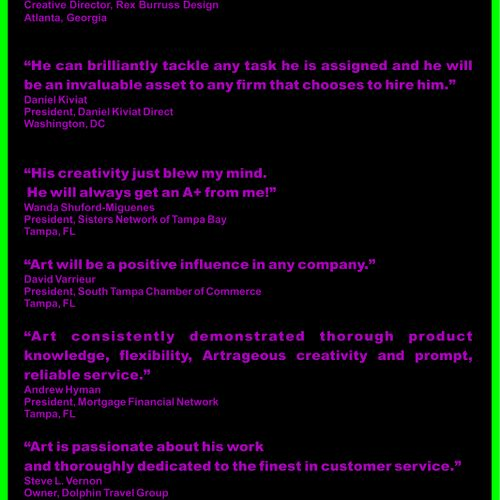 what my clients have said about me [abbreviated version]