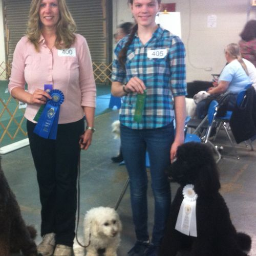 2013 Casper wins first place in Rally Novice and Lilly wins fourth place.