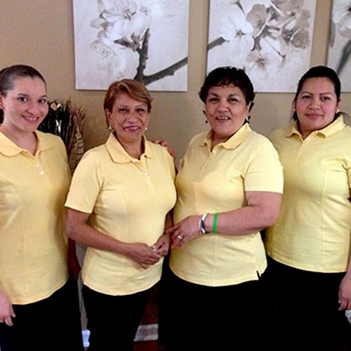 Some of the members of our cleaning team.
