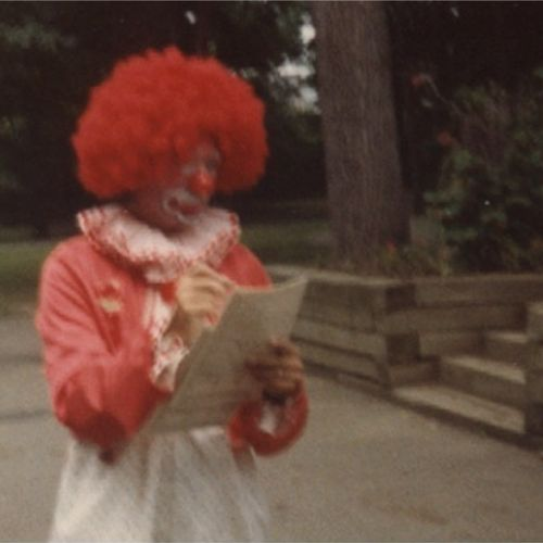 "As ""Really The Clown"" signing autographs at Potter's Park Zoo, Lansing, MI."