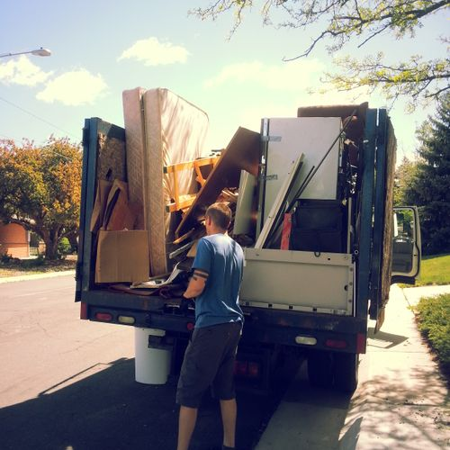 Our crew takes the time to separate recyclables to divert as much from the landfill as possible.