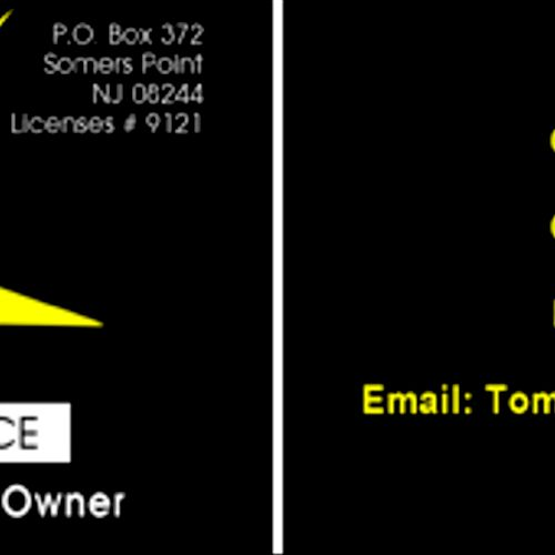 Business Card design from a winning bid on Thumbtack.