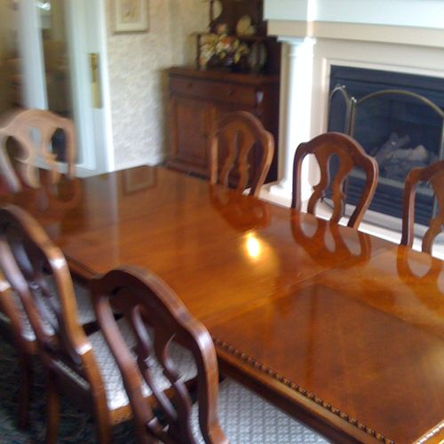 Table refinishing - face lift (AFTER)