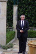 Reverend Brian at the Fort Worth Botanic Gardens just before another happy couple gets married.