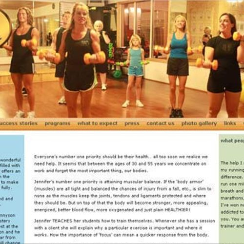 BodyByJennifer.com was created to update an old site and place it into a content management system.