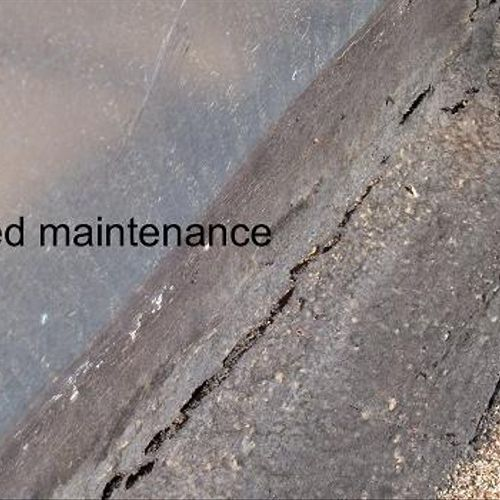 Waterproofing around any roof penetrations must be addressed frequently to avoid leaks.  This weathered sealant was located on the roof; not easily accessible by a potential home buyer.