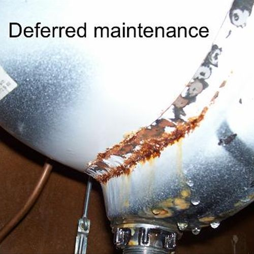 """We check every """"nook and cranny"""" to expose deferred maintenance damage like this!"""